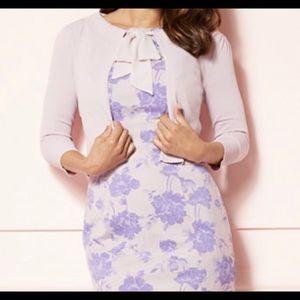 NWOT Eva Mendes lavender cardigan size M